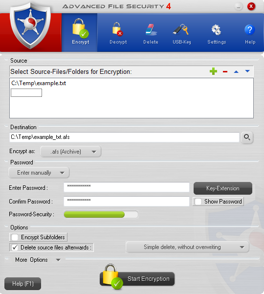 Advanced File Security Pro Screenshot