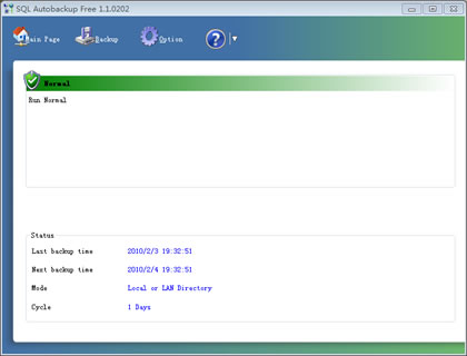 SQL Autobackup Free Screenshot 1