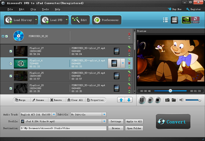 Aiseesoft DVD to iPad Converter Screenshot