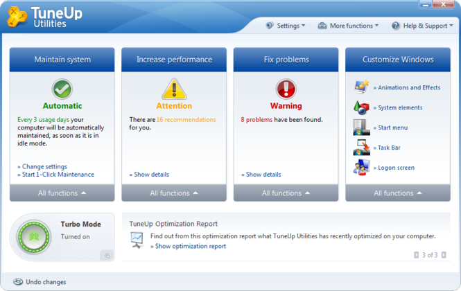 TuneUp Utilities 2014 Screenshot