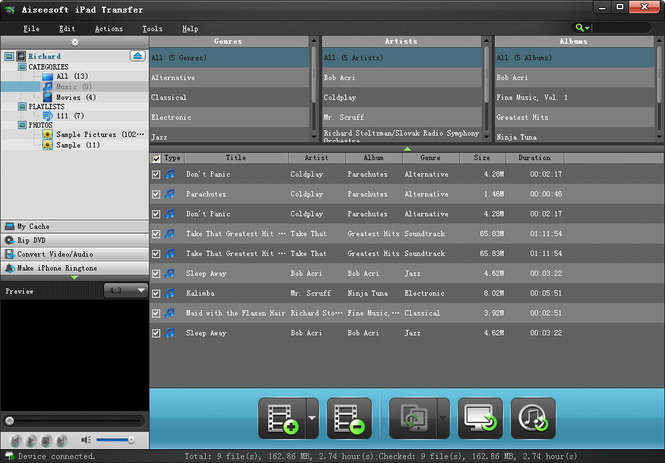 Aiseesoft iPad Transfer Screenshot