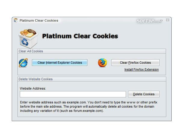 Platinum Clear Cookies Screenshot