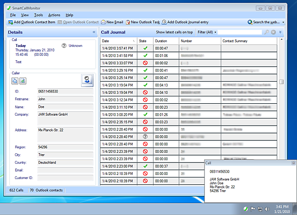 SmartCallMonitor Screenshot