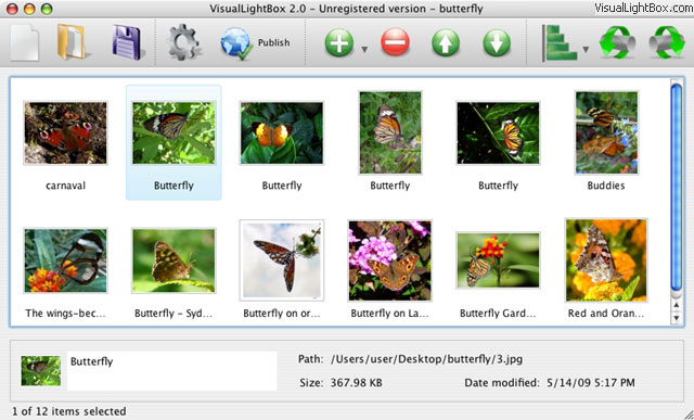 Flickr Gallery for Mac OS Screenshot 1