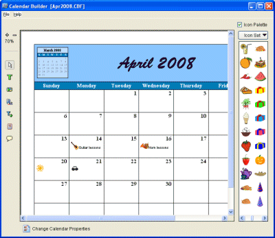 Tailwag Calendar Builder Screenshot