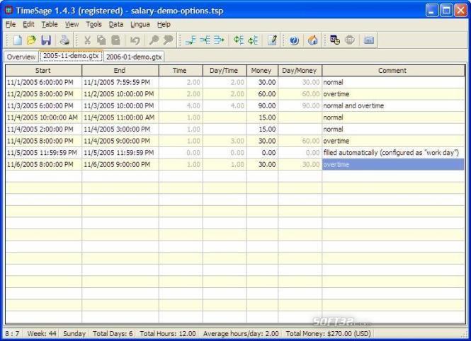 TimeSage Timesheets - Pro Edition Screenshot 3