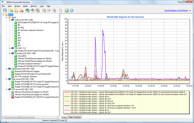 DEKSI Bandwidth Monitor Screenshot