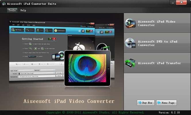 Aiseesoft iPad Converter Suite Screenshot