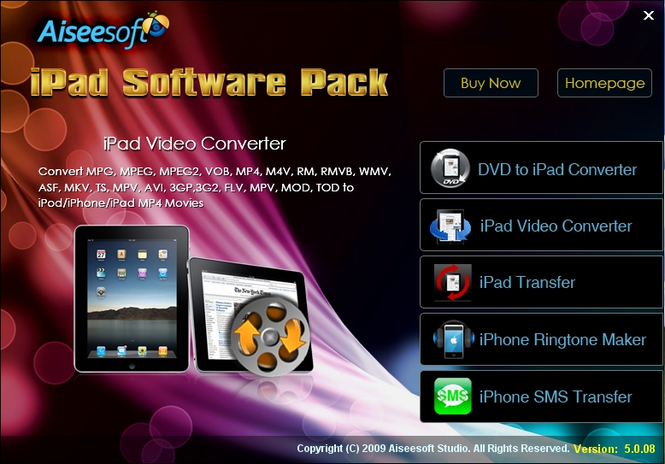 Aiseesoft iPad Software Pack Screenshot