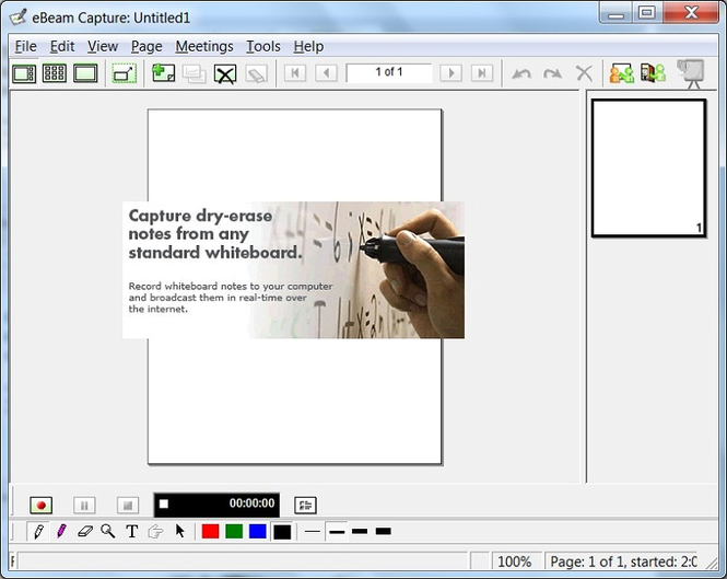 Interactive Whiteboard eBeam Capture Screenshot