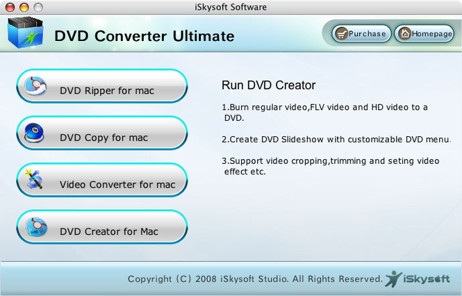 iSkysoft DVD Converter Ultimate for mac Screenshot