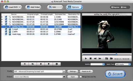 Aimersoft Total Media Converter for Mac Screenshot 1