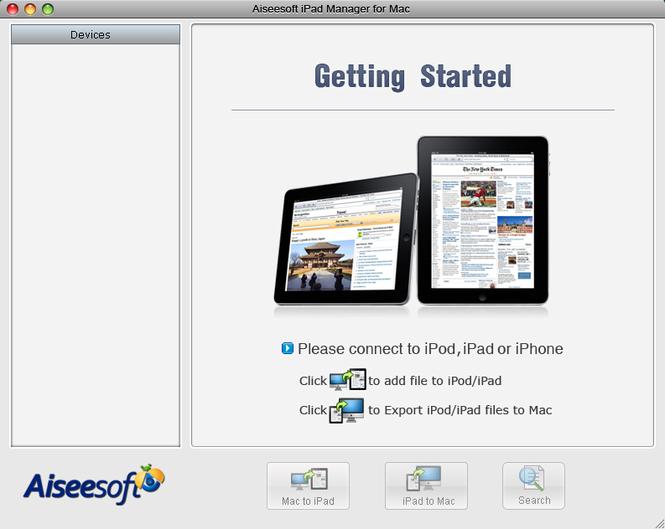 Aiseesoft iPad Manager for Mac Screenshot 2