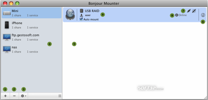 Bonjour Mounter Screenshot