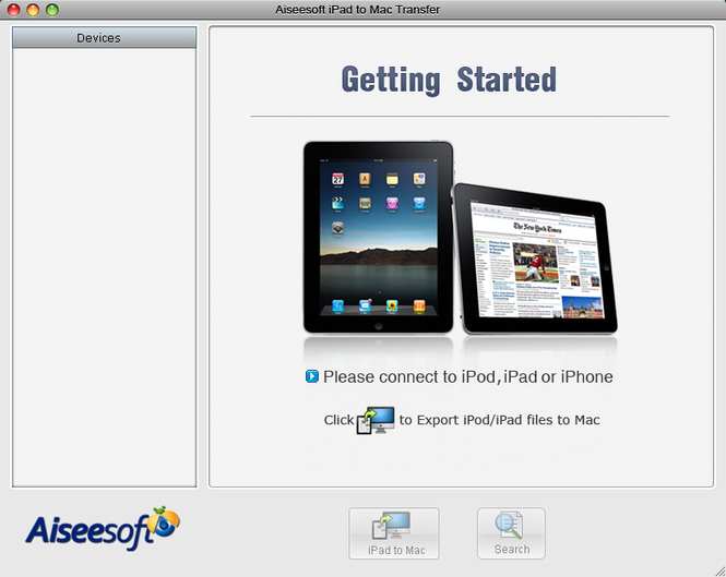 Aiseesoft iPad to Mac Transfer Screenshot