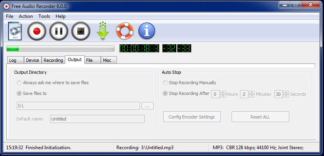 Free Audio Recorder Screenshot