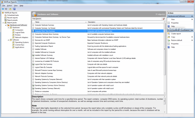MAPILab Reports for Hardware and Software Inventory Screenshot 2