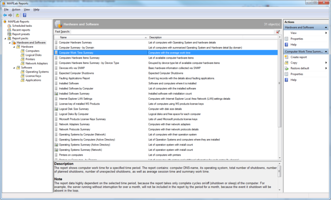 MAPILab Reports for Hardware and Software Inventory Screenshot 1