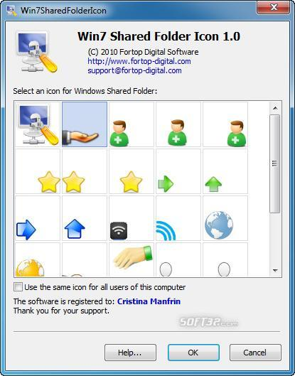 Win7 Shared Folder Icon Screenshot 2
