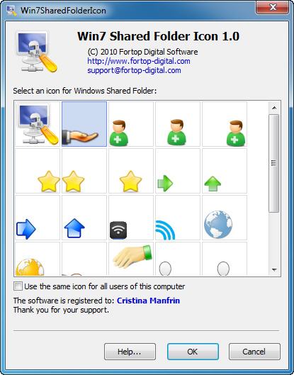 Win7 Shared Folder Icon Screenshot