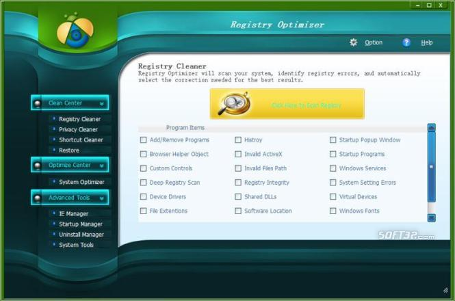 Aiseesoft Registry Optimizer Screenshot 2