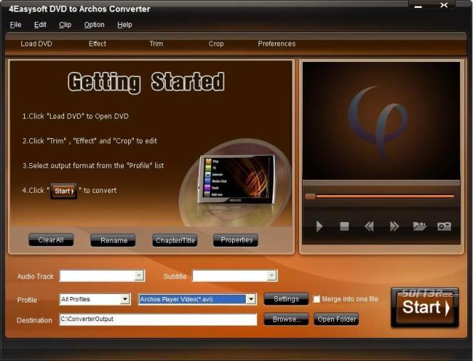 4Easysoft DVD to Archos Converter Screenshot 2
