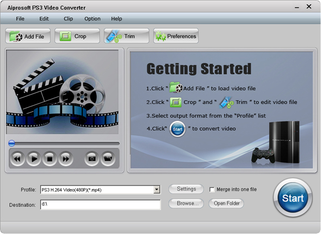 Aiprosoft PS3 Video Converter Screenshot 1
