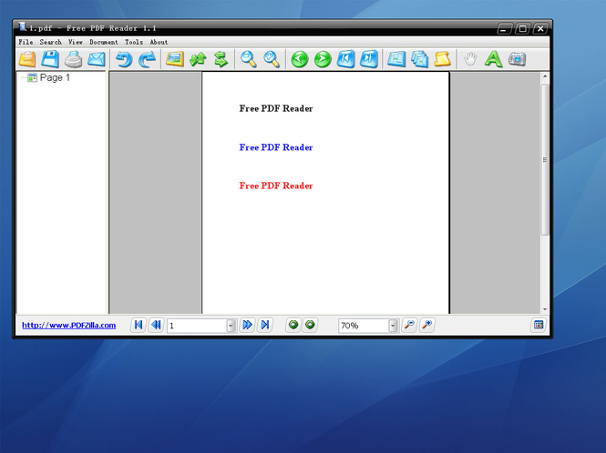 Free PDF Reader Screenshot
