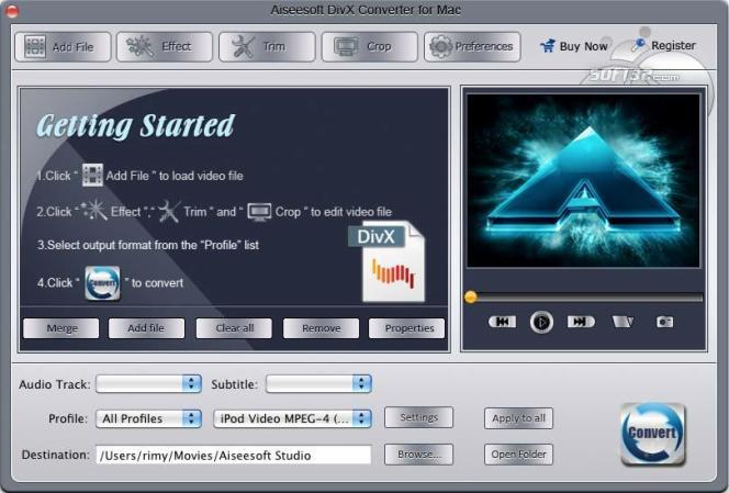 Aiseesoft DivX Converter for Mac Screenshot 2