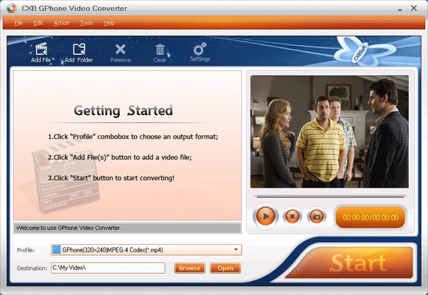 CXBSoft GPhone Video Converter Screenshot