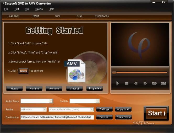 4Easysoft DVD to AMV Converter Screenshot 2