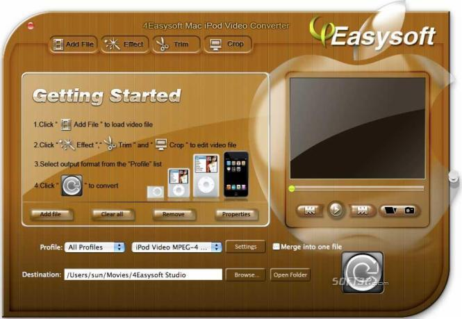 4Easysoft Mac iPod Video Converter Screenshot 3