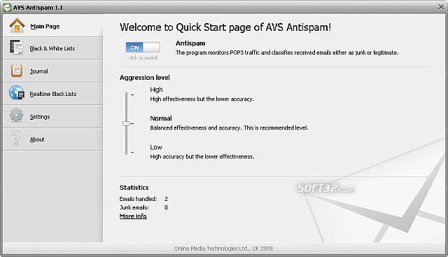 AVS Antispam Screenshot 3