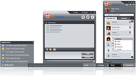 Free DotNetNuke IM of 123 Web Messenger Screenshot