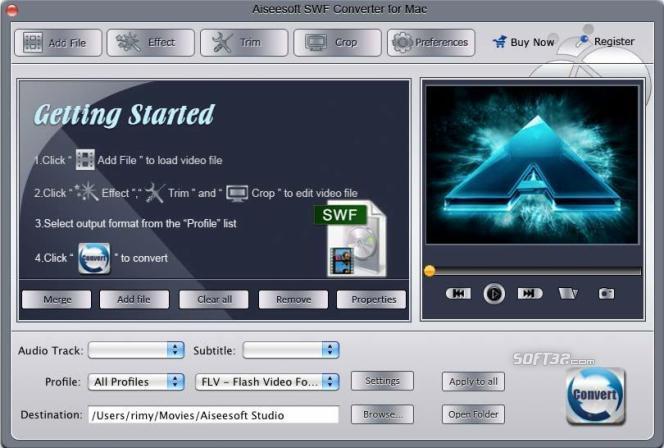 Aiseesoft SWF Converter for Mac Screenshot 3