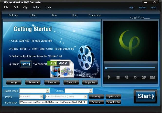 4Easysoft AVI to AMV Converter Screenshot 3