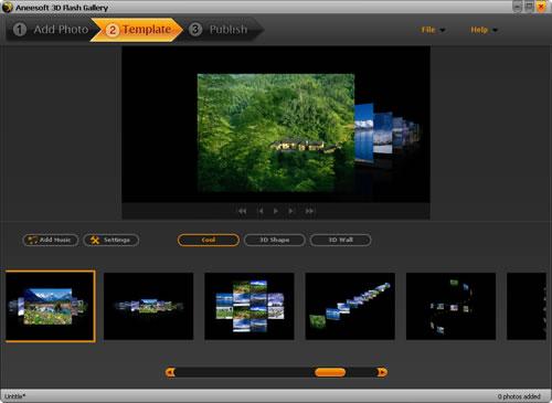 Aneesoft 3D Flash Gallery Screenshot