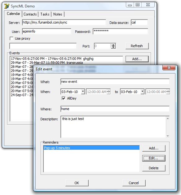 SyncML Delphi Component Screenshot