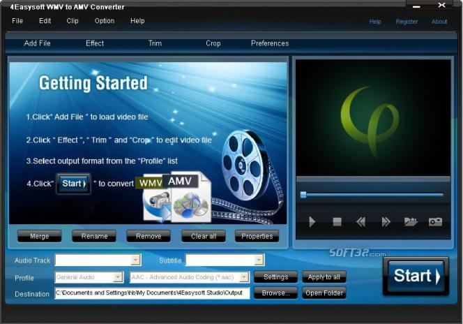 4Easysoft WMV to AMV Converter Screenshot 2