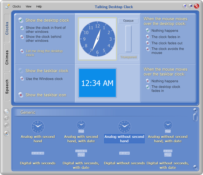 Talking Desktop Clock Screenshot 1
