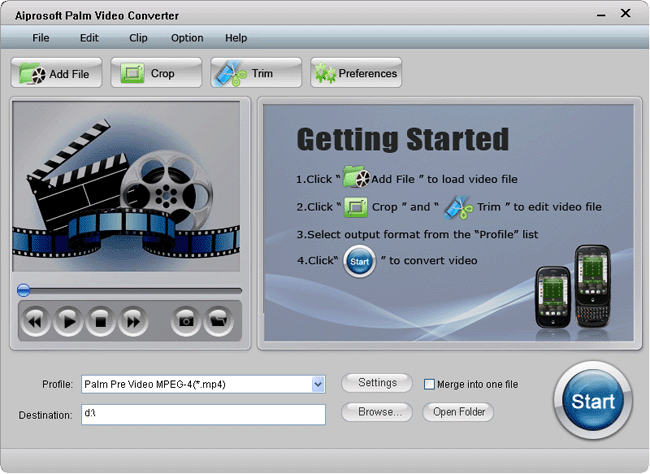 Aiprosoft Palm Video Converter Screenshot 1