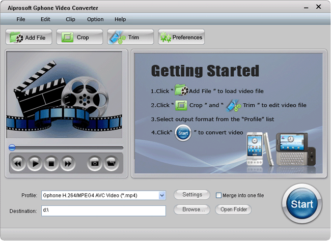 Aiprosoft Gphone Video Converter Screenshot