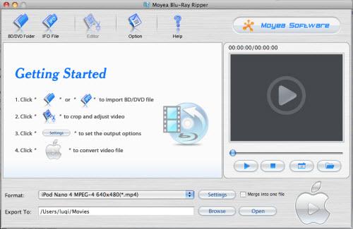 Moyea Blu-Ray Ripper for Mac Screenshot 1