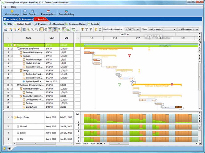 PlanningForce Express Premium Screenshot 2