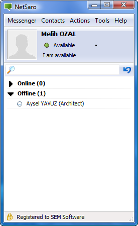 NetSaro Enterprise Messenger Screenshot