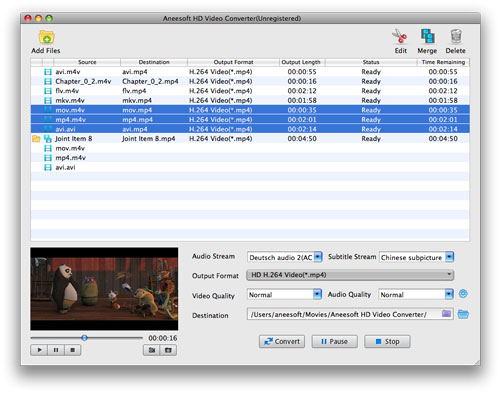 Aneesoft HD Video Converter for Mac Screenshot 1