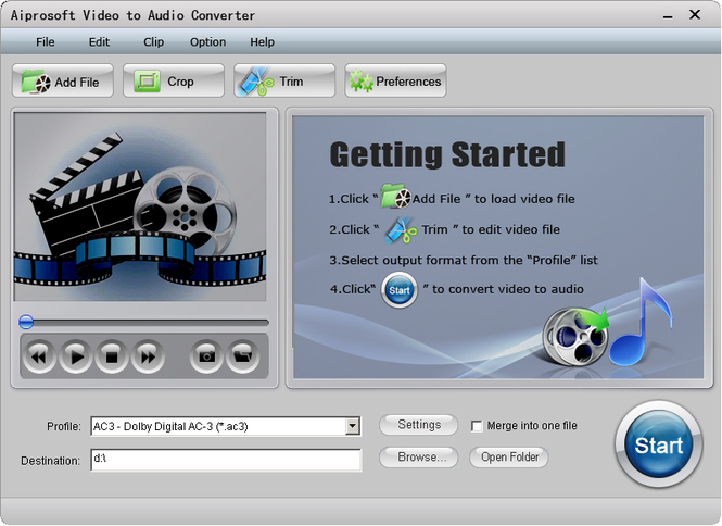 Aiprosoft Video to Audio Converter Screenshot