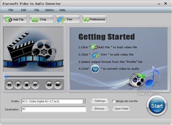 Aiprosoft Video to Audio Converter Screenshot 2