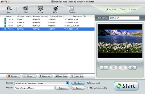 Video to iPhone Converter for Mac Screenshot