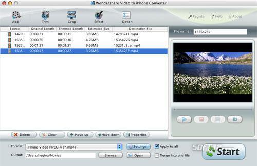 Video to iPhone Converter for Mac Screenshot 2